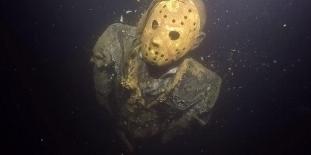 jason voorhees underwater statue friday the 13th