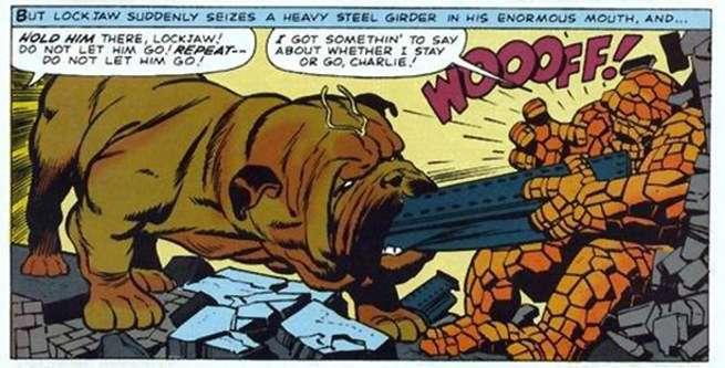 Lockjaw Comics - Lockjaw Is A Hero