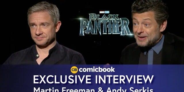 Martin Freeman and Andy Serkis Talk Black Panther screen capture