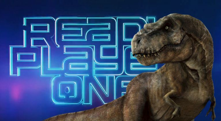 Ready Player One Jurassic park Trex comicbookcom