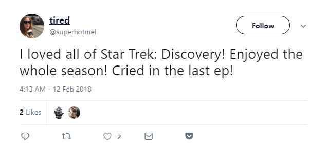 Star Trek Discovery finale fans reactions