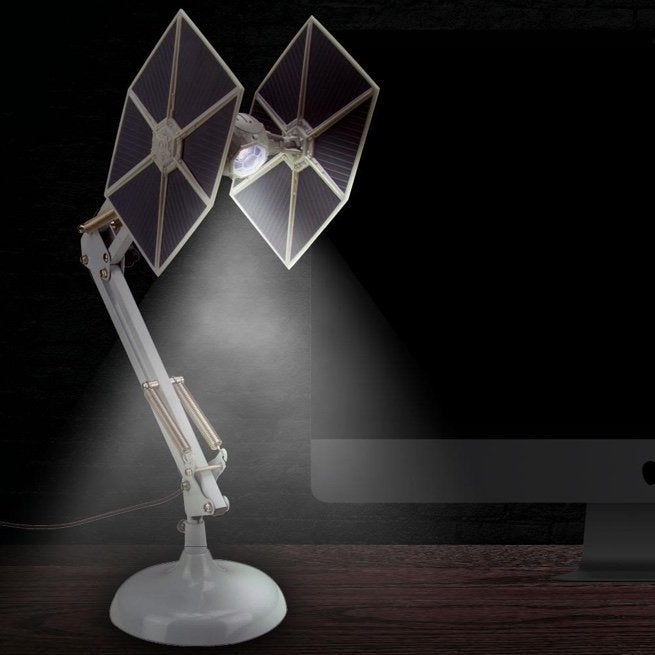 The \'Star Wars\' TIE Fighter Desk Lamp is Standard Galactic Empire Issue