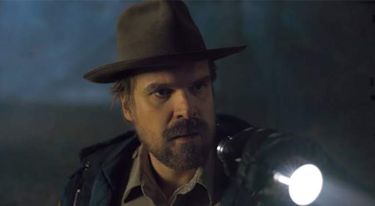 stranger things david harbour penguins antarctica
