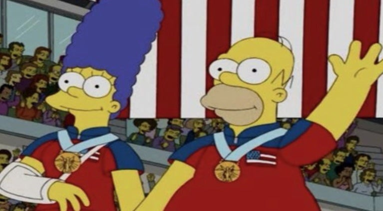 The Simpsons curling gold olympics