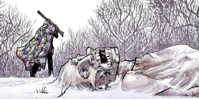 The Walking Dead frozen walker