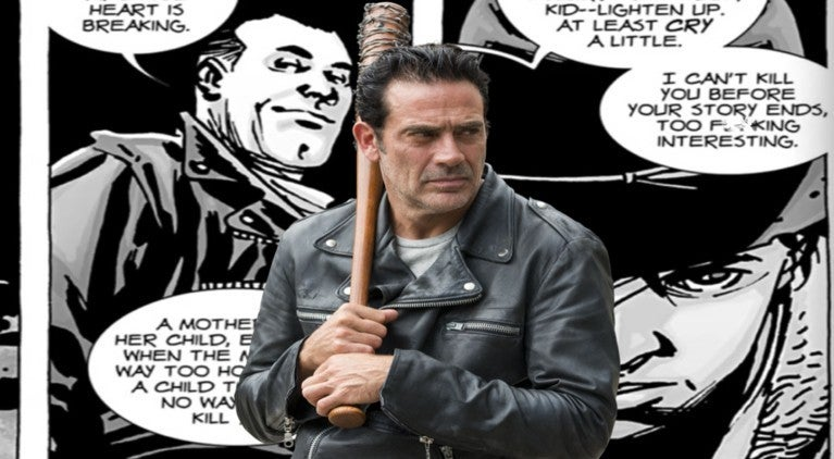 The Walking Dead Negan Carl ComicBookcom