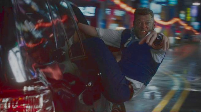 Ulysses Klaw in Black Panther Korea Chase Scene