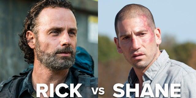 'The Walking Dead' Cast Plays Rick vs Shane screen capture