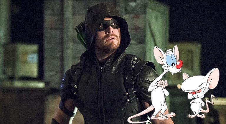 arrow stephen amell pinky and the brain