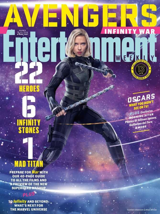 Avengers Infinity War EW Black Widow