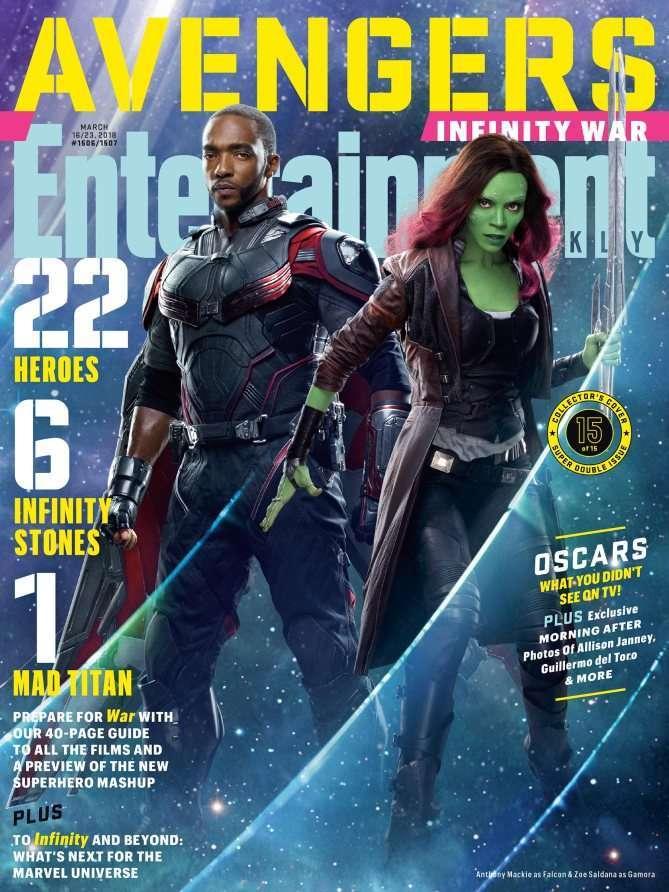 Avengers Infinity War EW Falcon Gamora