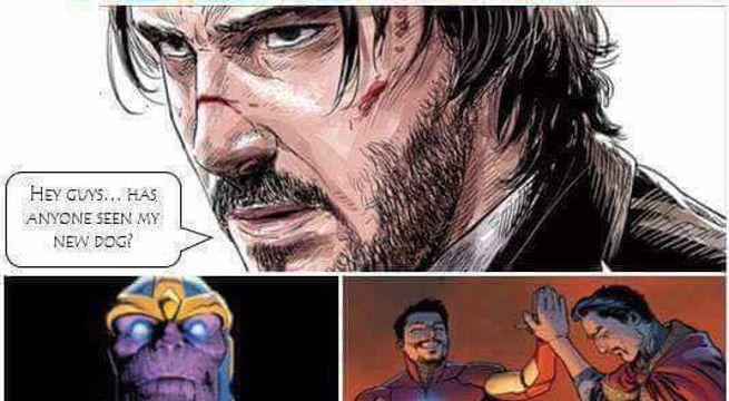 Avengers Infinity War Fan Comic John Wick vs Thanos
