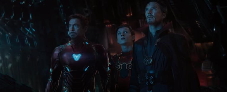 Avengers Infinity War Iron Man Spider-Man Doctor Strange