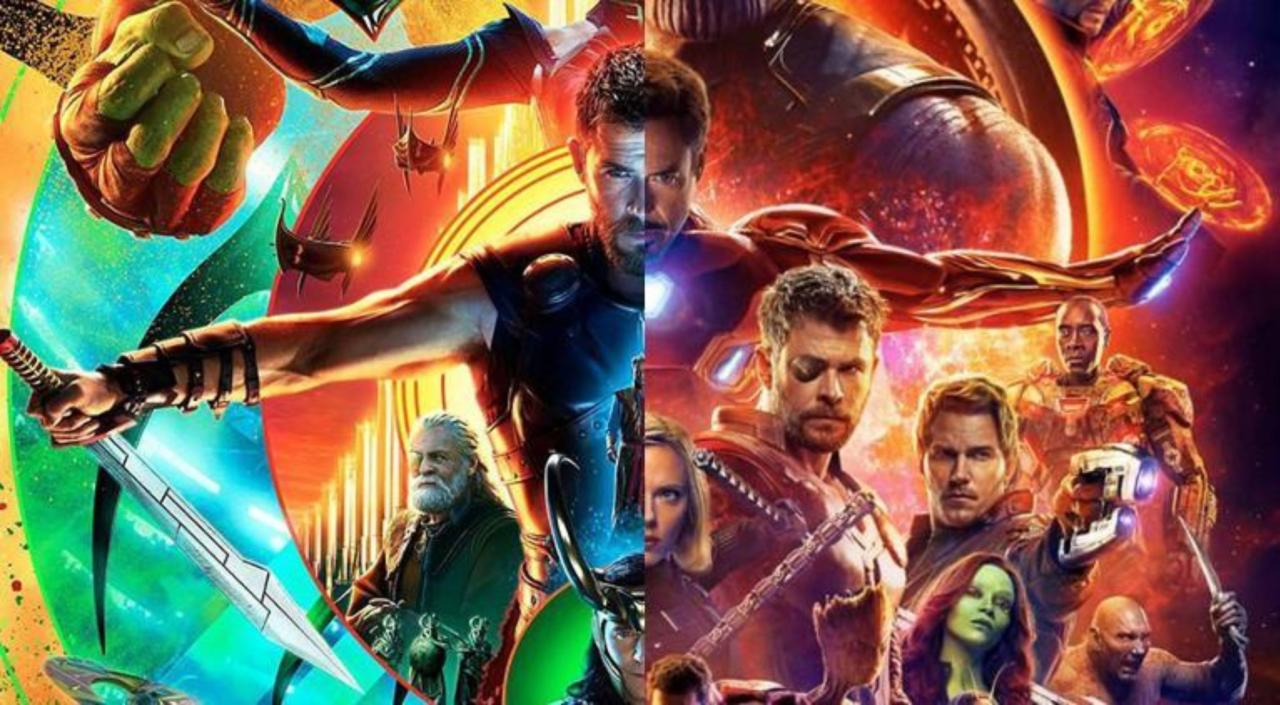 Fans Are Comparing The Avengers Infinity War And Thor Ragnarok Posters