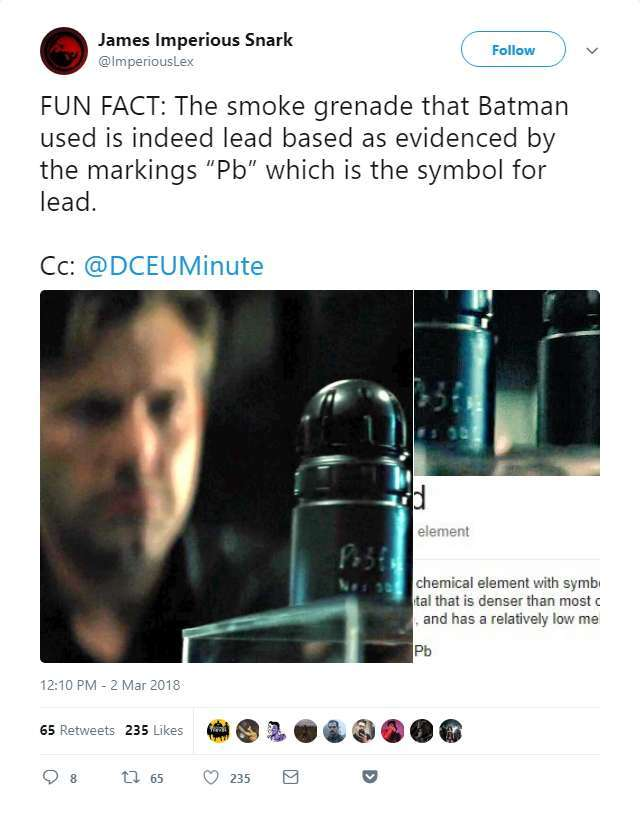 Batman v Superman Lead Grenade