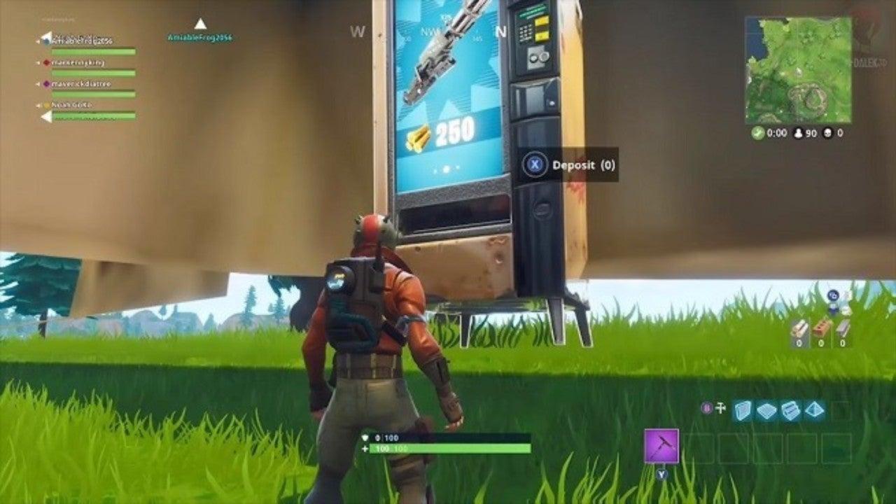 Wood Vending Machine Fortnite Fortnite Player Discovers Secret Weapons Vending Machine