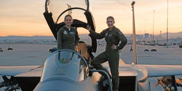 Marvel's Captain Marvel production start Brie Larson at Nellis Air Force Base