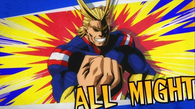 My Hero Academia Best Superhero Anime - All Might