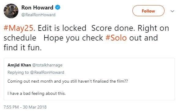 solo a star wars story ron howard edit locked