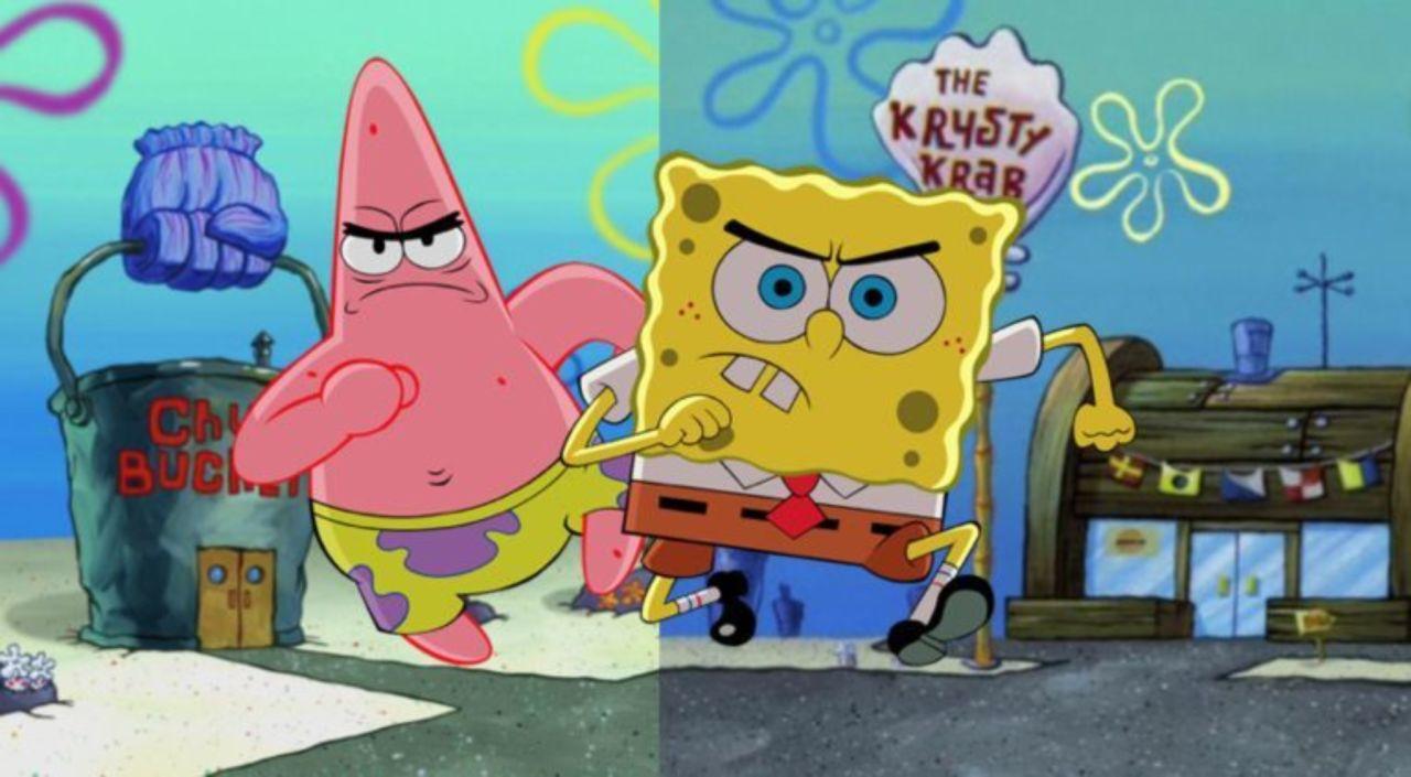 Spongebob squarepants krusty krab vs chum bucket meme goes viral