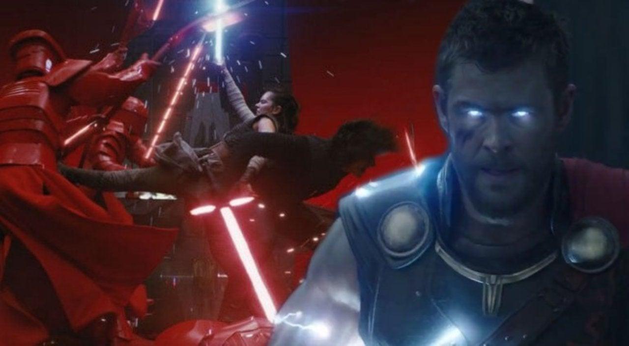 fan edits star wars the last jedi throne room fight with