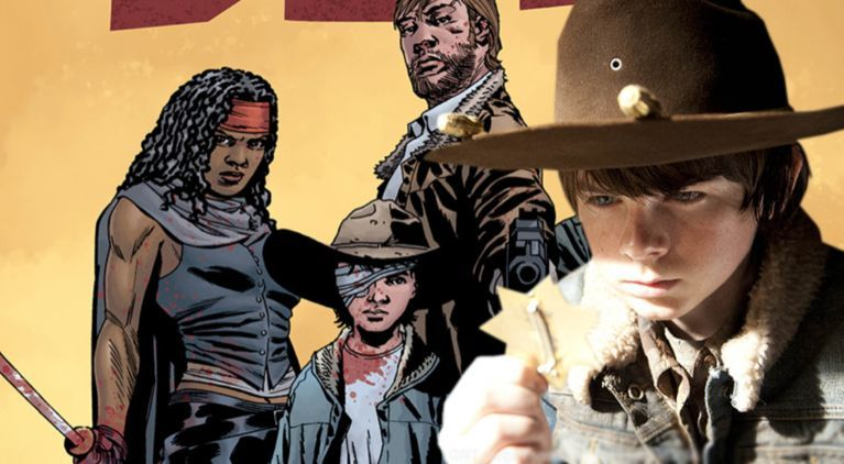 The Walking Dead Carl show comics