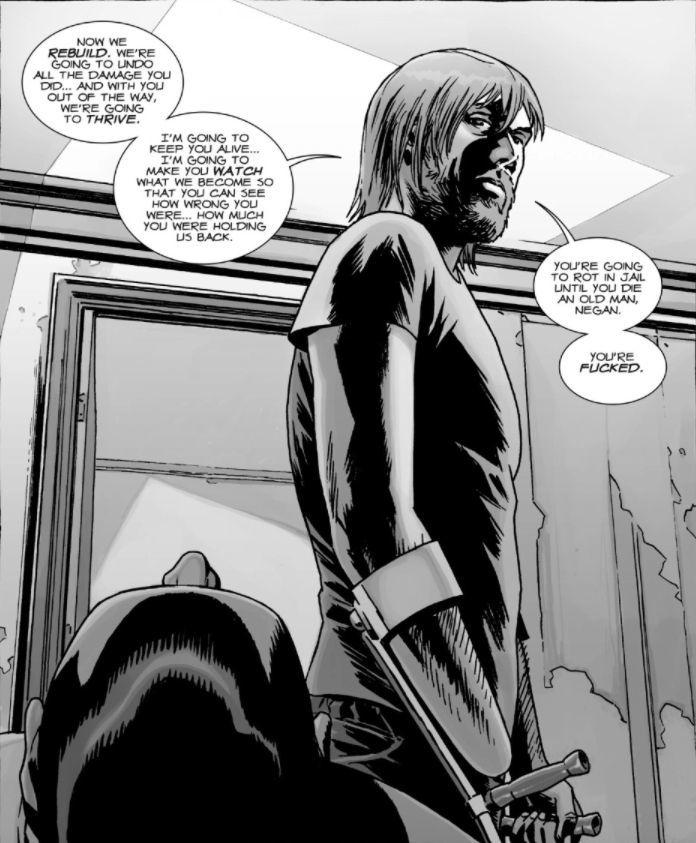 The Walking Dead comic Rick Negan