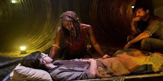 The Walking Dead Michonne Carl
