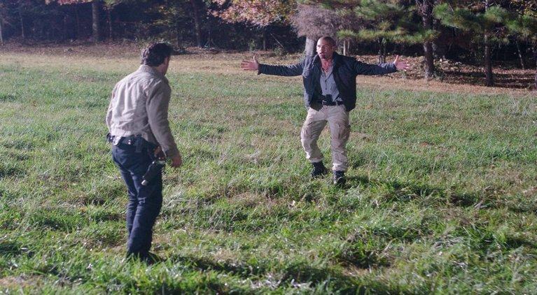 The Walking Dead Rick vs Shane