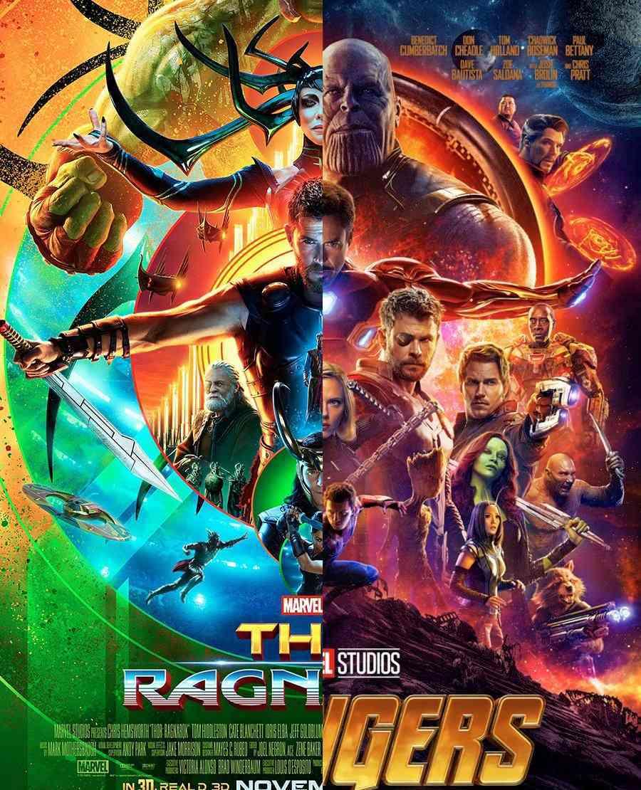 Thor Ragnarok Avengers Infinity War poster