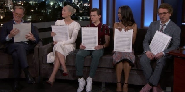 avengers infinity war cast jimmy kimmel live draw characters