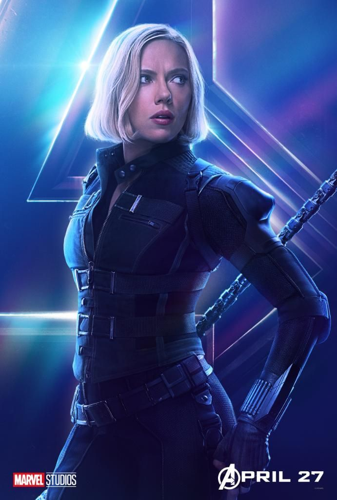 Avengers Infinity War Character Posters - Black Widow