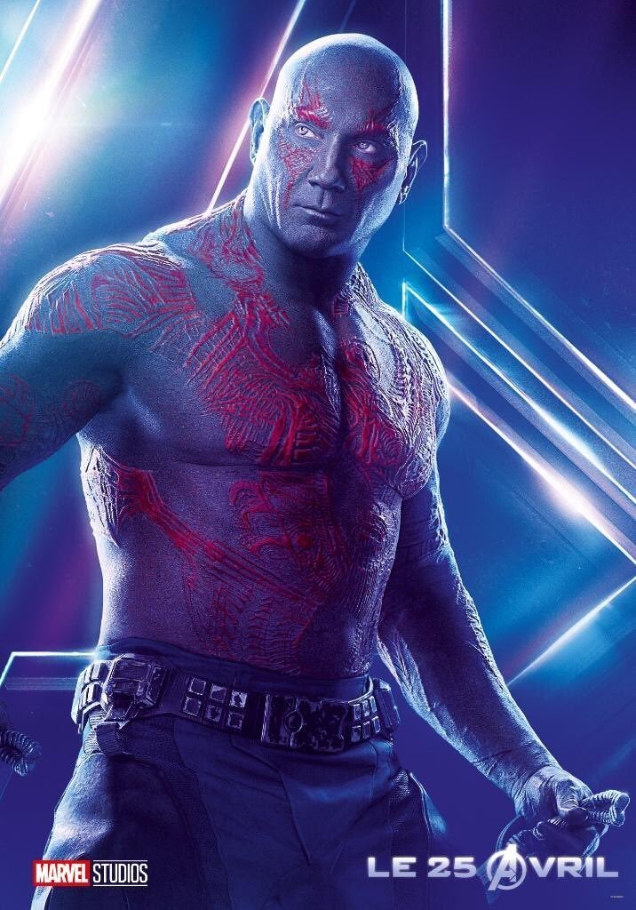 Avengers Infinity War Character Posters - Drax