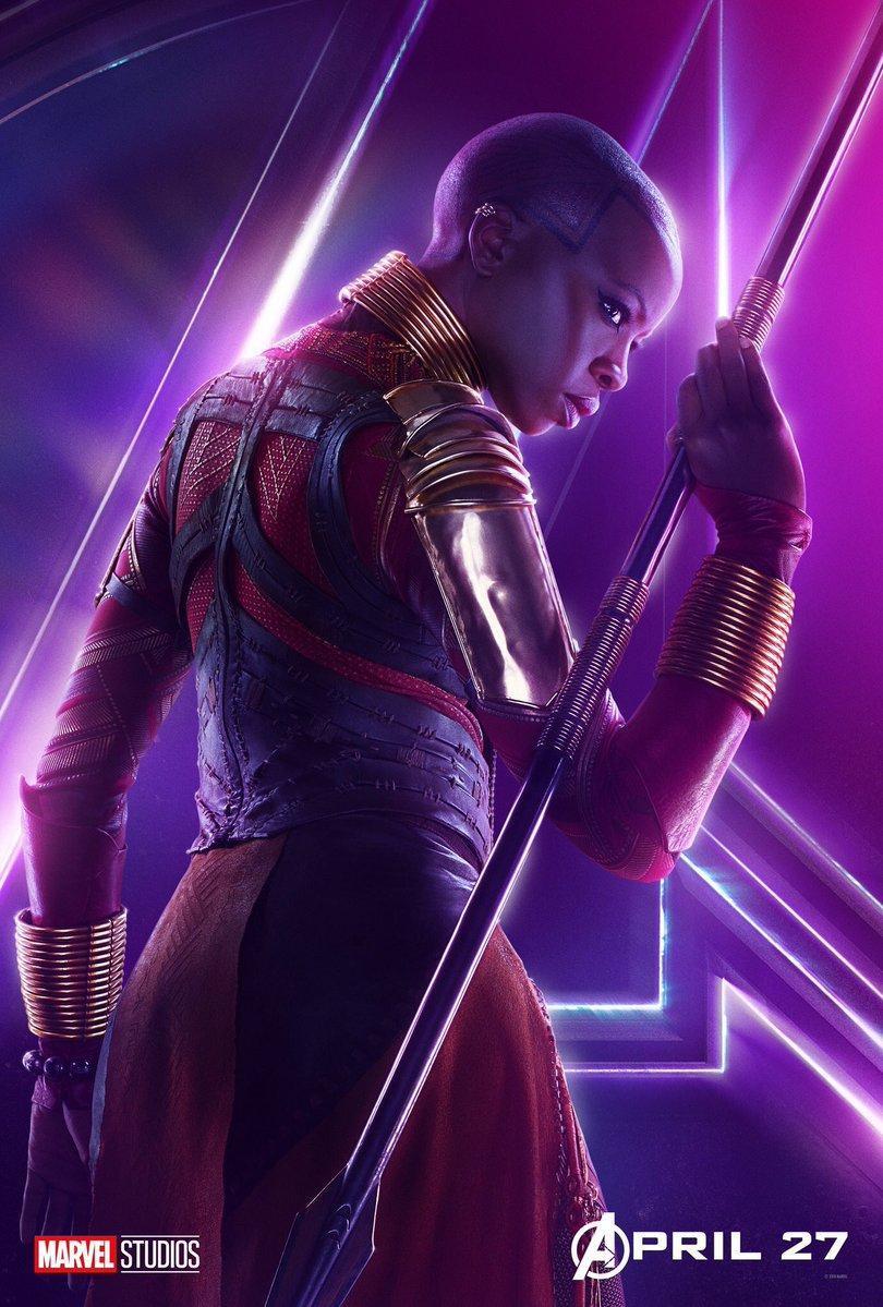Avengers Infinity War Character Posters - Okoye