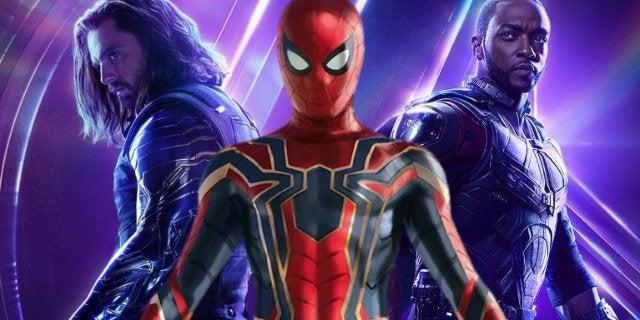 Avengers Infinity War Spider-Man Falcon Bucky