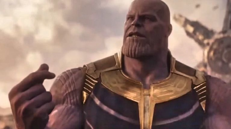 Avengers Infinity War Thanos snap