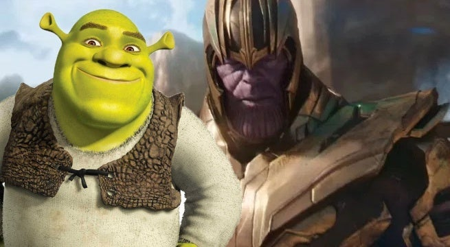 avengers infinity war trailer shrek