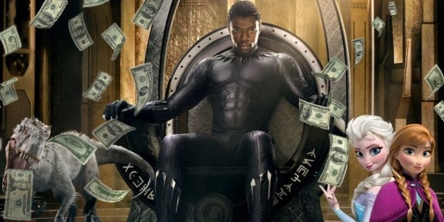 black panther box office jurassic frozen