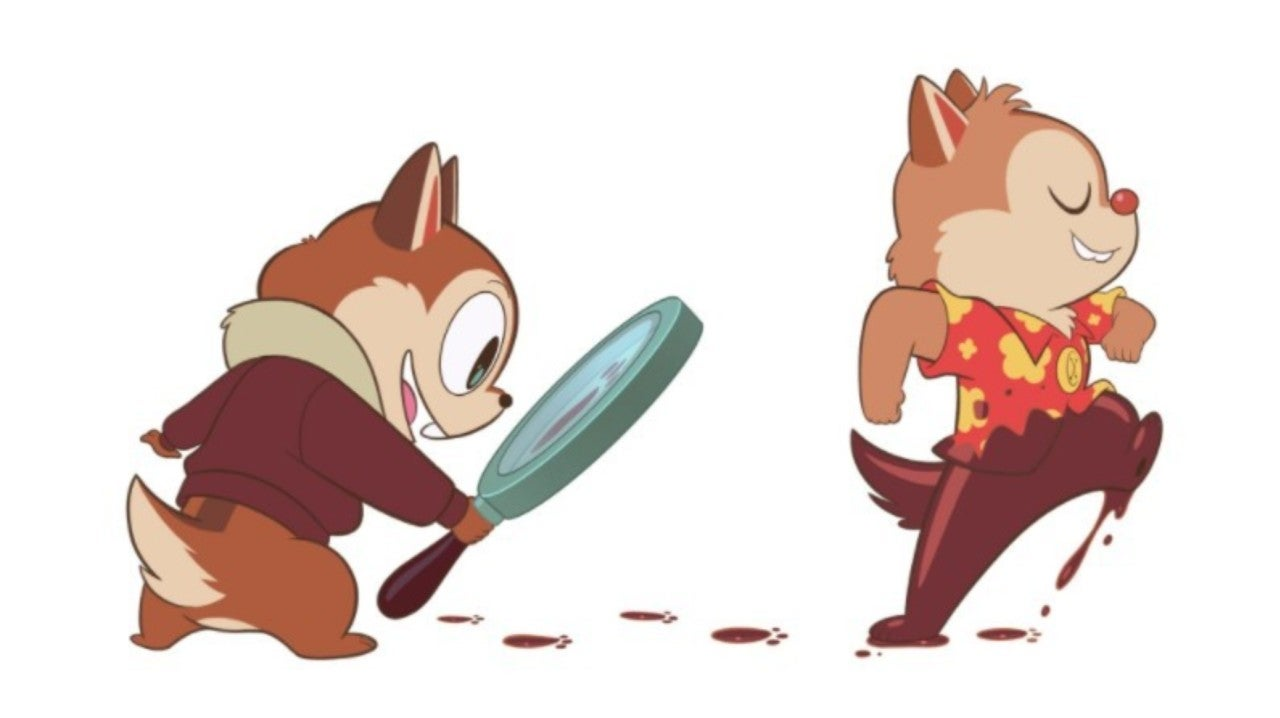 new chip n dale fan art imagines the rescue rangers for modern