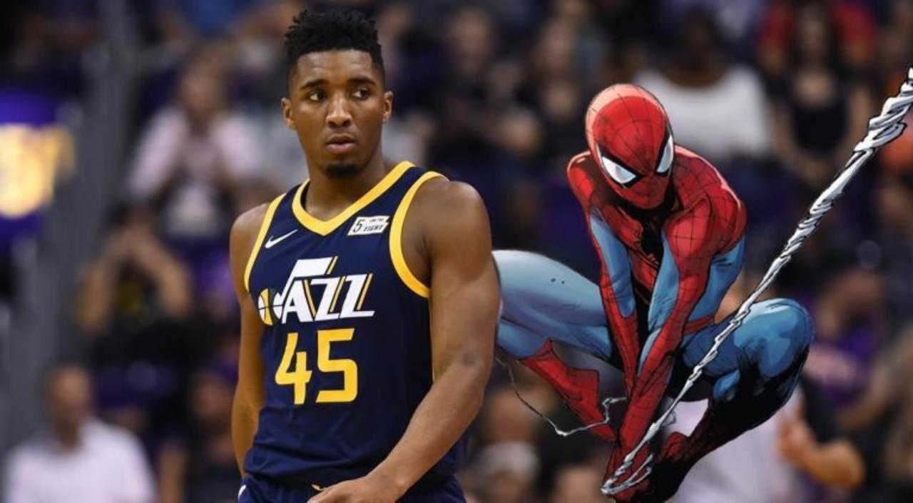 Utah Jazz Rookie Donovan Mitchell Sports Custom Spider Man