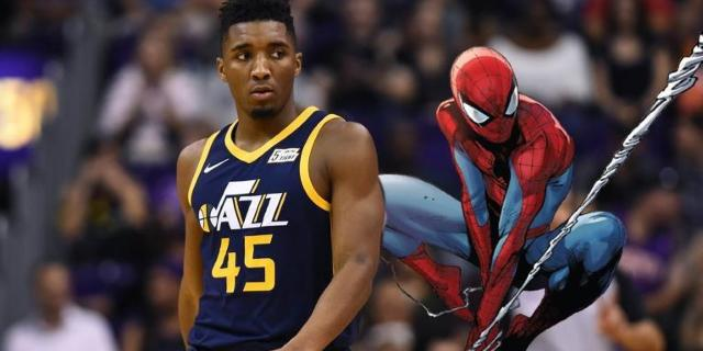 donovan-mitchell-spider-man-shoes-utah-jazz-nba-playoffs