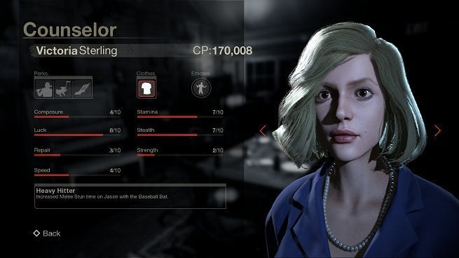 Friday the 13th the game Victoria Stats