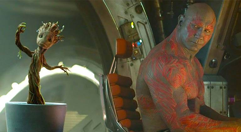 guardians drax and groot