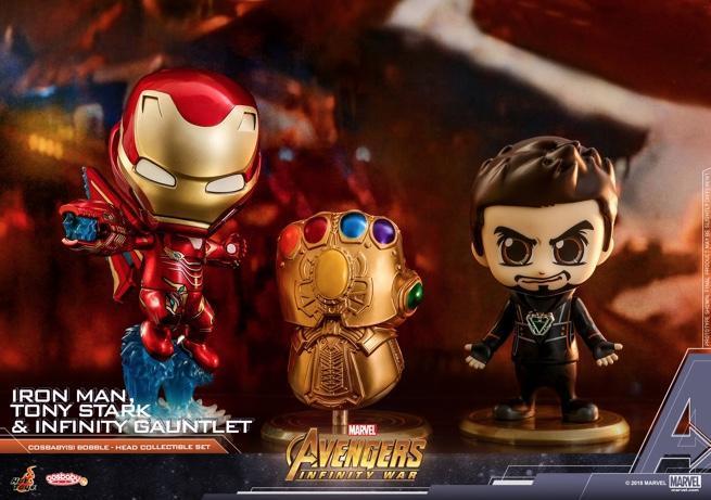 Hot Toys - AIW - Tony Stark, Iron Man, Infinity Gauntlet Cosbaby Set_PR1