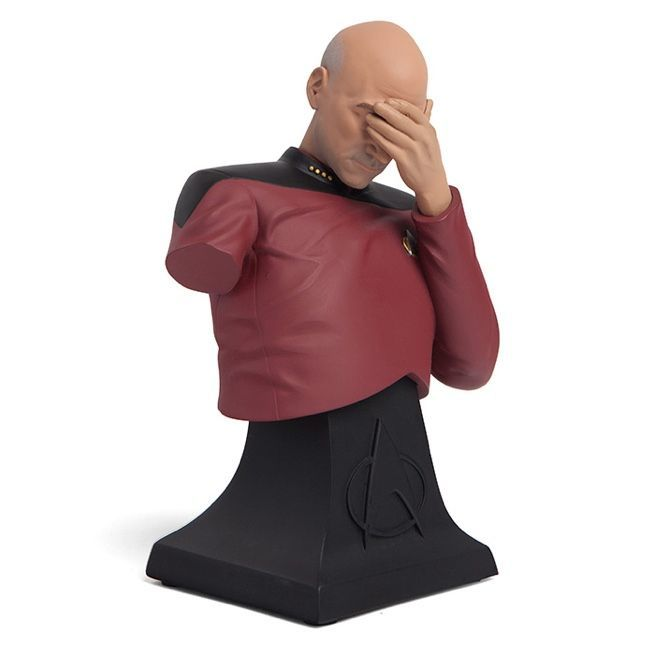2a165ab0c3 The 'Star Trek: TNG' Captain Picard Facepalm Bust Puts Your Dismay on  Display