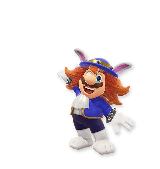 "Mario Odyssey 3 ""title ="" Mario Odyssey 3 ""height ="" 702 ""width ="" 665 ""data-item ="" 1105701 ""/> </figure> <p>  This seems to be one of the outfits for evil If we have not have his official name, we have to say … Mario with long hair looks pretty cool like, very Fabio-ish. </p> <figure class="