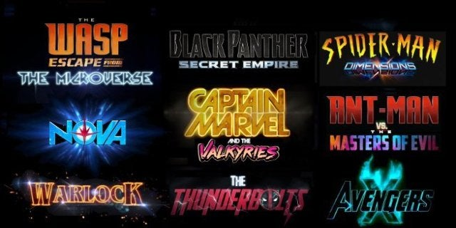 Marvel Cineamtic Universe Phase 4 Movies (fan Header)