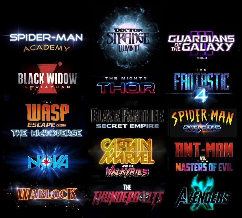 Marvel Cinematic Universe Phase 4 Movies List (Fan Made)