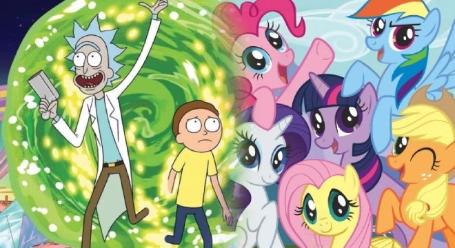 rick and morty my little pony
