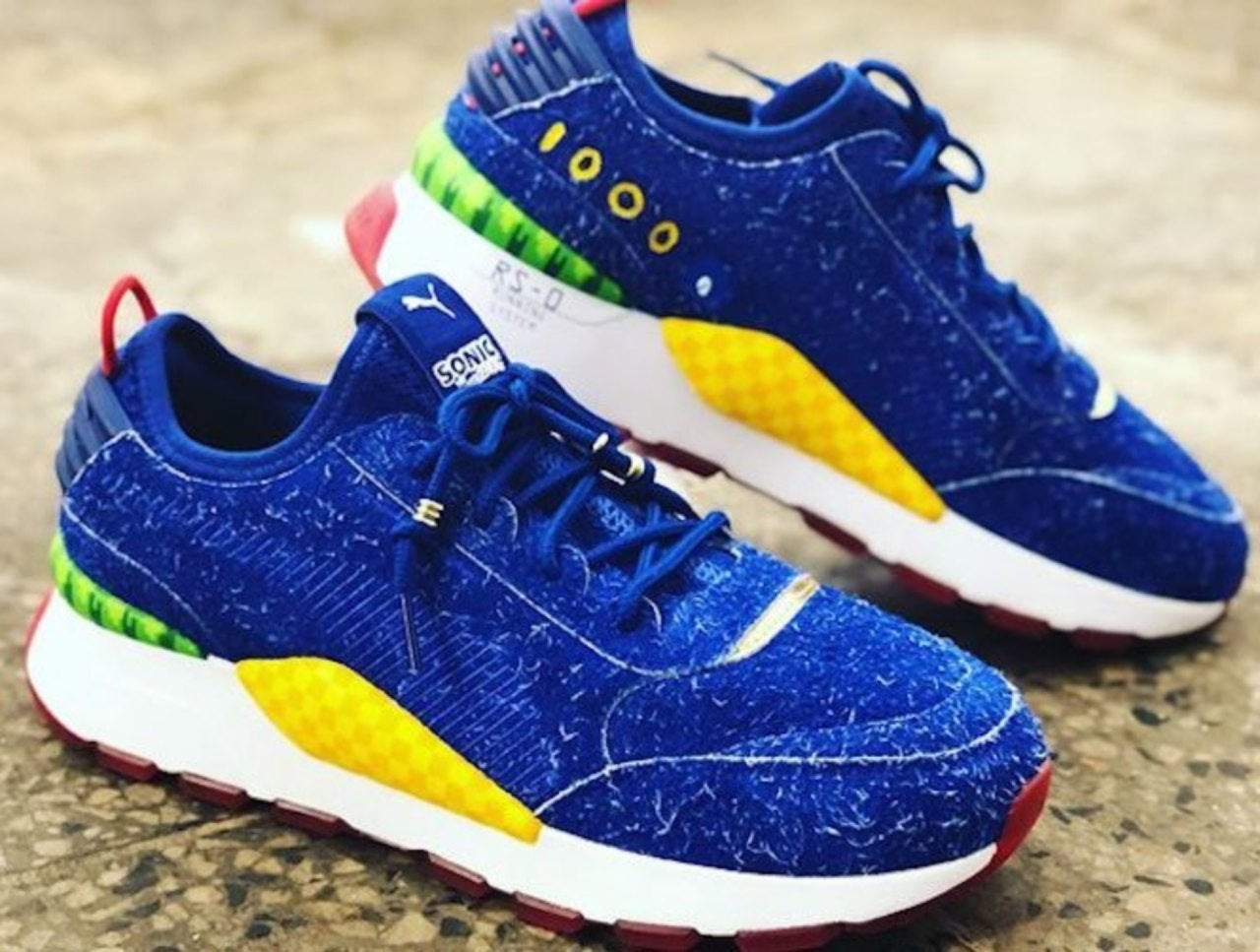 Closer Look At the Puma x Sega Sonic Shoes
